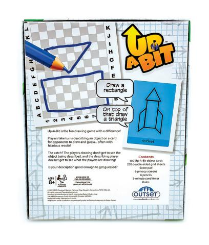 Up A Bit drawing game Outset Media (back of box)