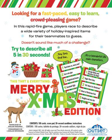 This That and Everything Merry Xmas card game by Outset Media