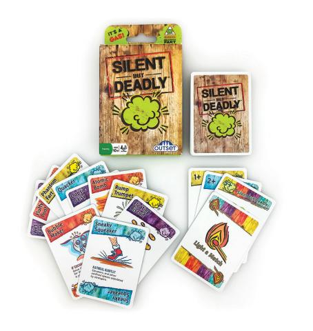 Silent But Deadly card game layout by Outset Media