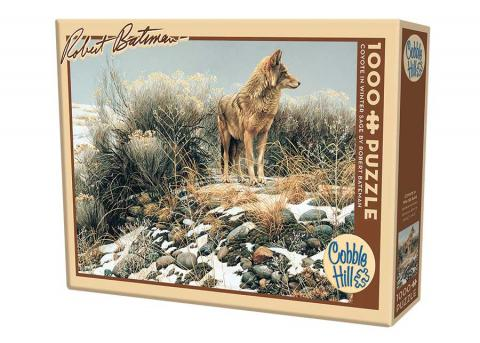 Coyote in Winter Sage 1000 piece