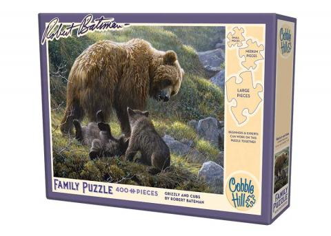 Robert Bateman Grizzly and Cubs 400 piece Cobble Hill puzzle