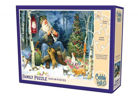 Old World Santa Family Puzzle 400 piece