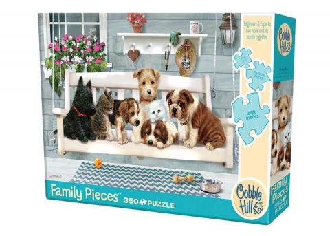 Porch Pals dogs Family Pieces 350 by Cobble Hill