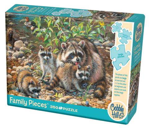 Racoon Family 350 Family Piece puzzle by Cobble Hill