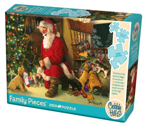 Santa's Lucky Stocking 350 Family Piece puzzle by Cobble Hill