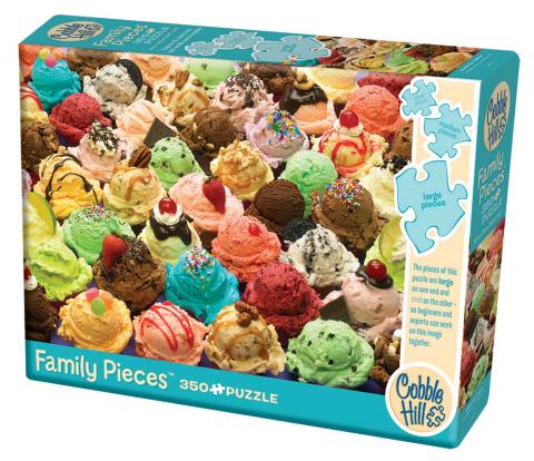 More Ice Cream 350 Family Piece puzzle by Cobble Hill