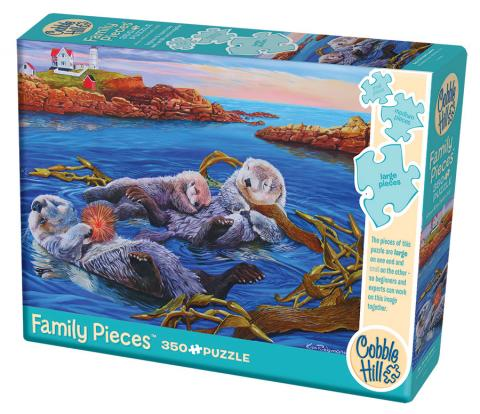 Sea Otter Family 350 Family Piece puzzle by Cobble Hill