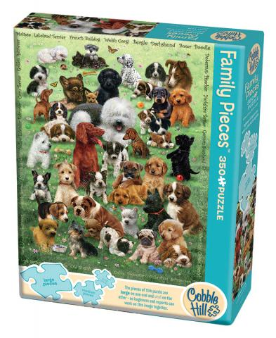 Puppy Love (Family) 350 Family Piece puzzle by Cobble Hill