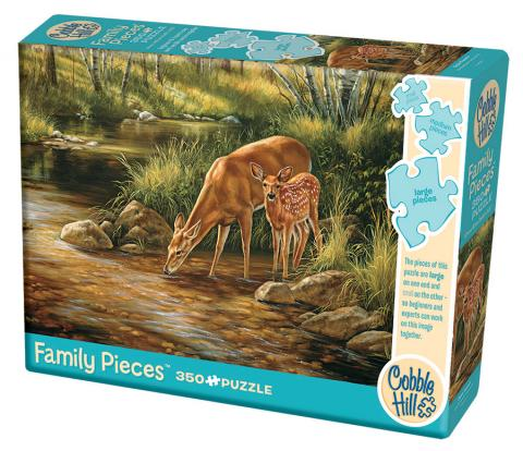 Deer Family (Family) 350 Family Piece puzzle by Cobble Hill