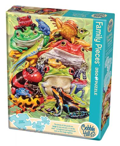 Frog Pile (Family) 350 Family Piece puzzle by Cobble Hill