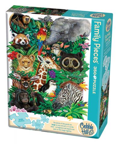 Safari Babies (Family) Family Pieces 350 puzzle by Cobble Hill