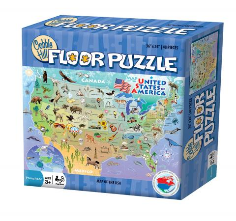 Map of the USA by Cobble Hill Puzzle Co