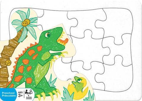 create your own puzzle 5 x 7 postcard outset media games