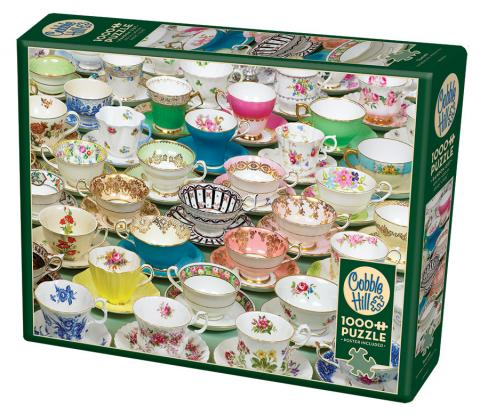 Cobble Hill - Teacups 1000 piece jigsaw puzzle TOP Puzzle