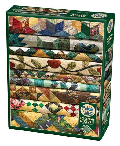 Grandma's Quilts Photo Puzzle | 1000 pieces | Cobble Hill Puzzle Co