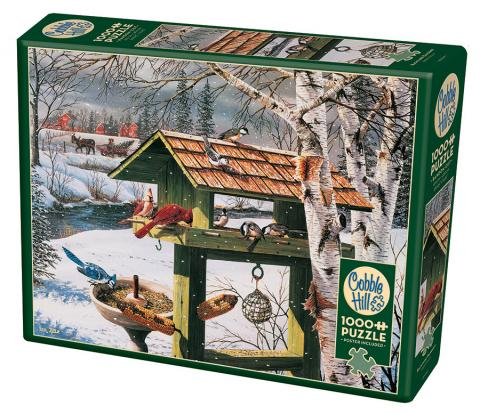 Backyard Banquet bird puzzle | 1000 pieces | Cobble Hill puzzle