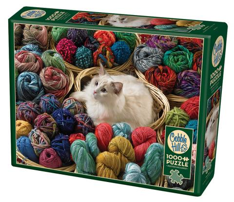 Fur Ball jigsaw | 1000 pieces | Cobble Hill ragdoll cat puzzle