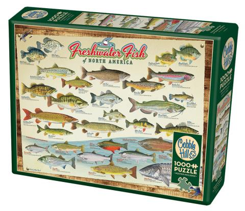 Freshwater Fish of North America1000 piece Cobble Hill Puzzle Co fish jigsaw