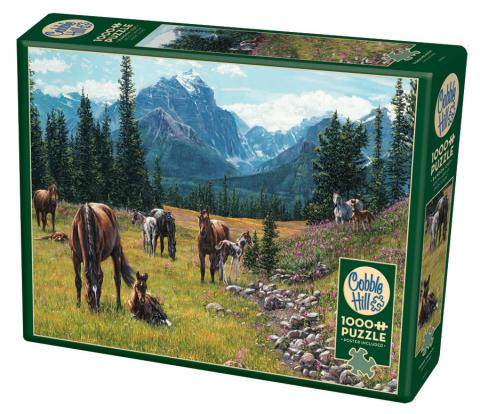 Horse Meadow - 1000 piece - Cobble Hill Puzzle Co - country horse jigsaw