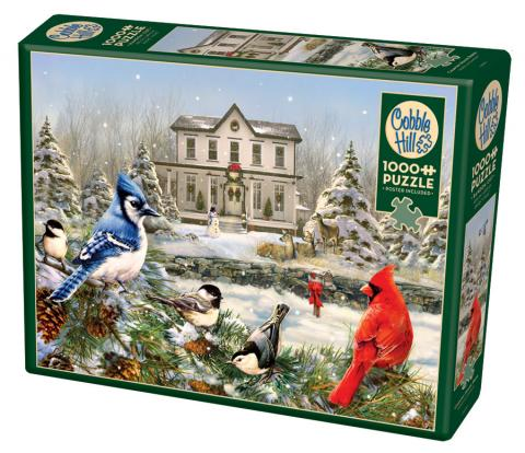 Country House Birds - 1000 piece - Cobble Hill Puzzle Co - birds winter jigsaw