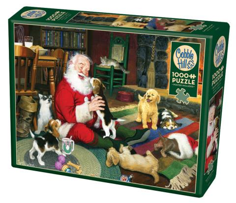 Santa's Playtime 1000 piece Christmas puzzle by Cobble Hill