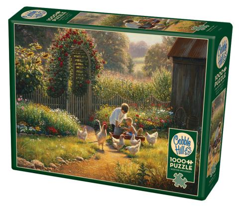 Feeding Time 1000 piece farm puzzle by Cobble Hill