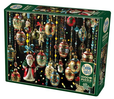 Christmas Ornaments 1000 piece puzzle by Cobble Hill Puzzle Co