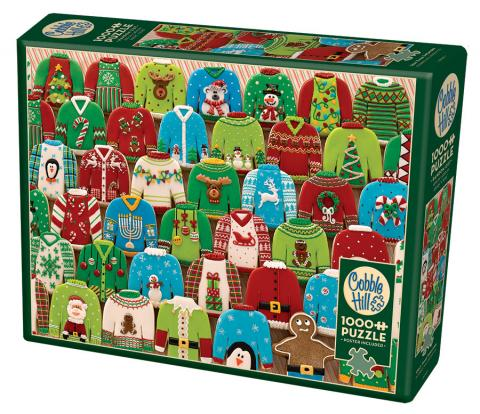 Ugly Xmas Sweaters by Cobble Hill Puzzle Co - truly original photo 1000 pc
