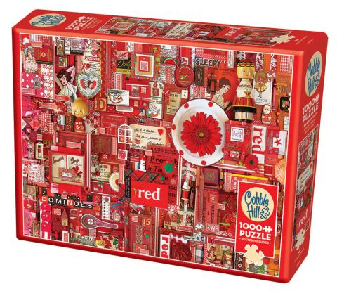 Red Rainbow Collection by Cobble Hill Puzzle Co & Shelley Davies