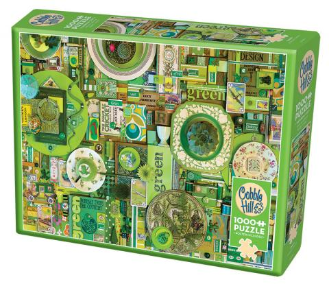 Green Rainbow Collection by Cobble Hill Puzzle Co and Shelley Davies