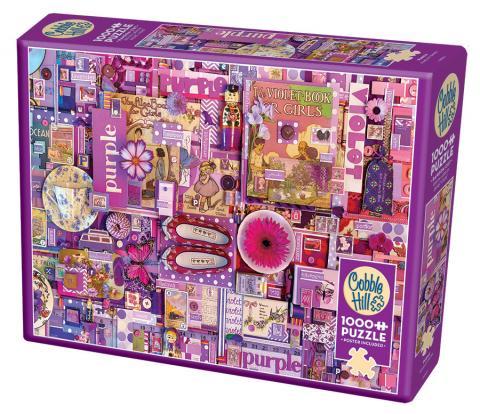 Purple Rainbow Collection by Cobble Hill Puzzle Co and Shelley Davies