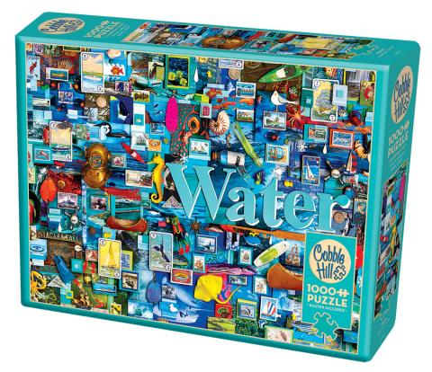 Water - 1000 pc puzzle - Cobble Hill Puzzle Co