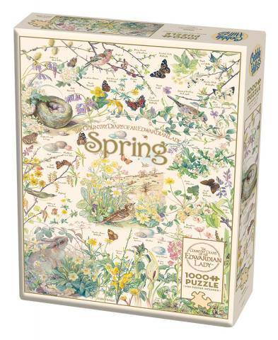 Country Diary: Spring - 1000 pc puzzle - Cobble Hill Puzzle Co