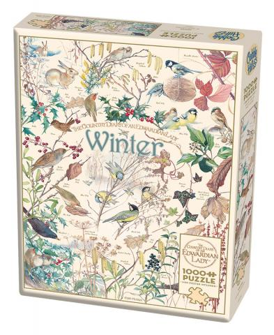 Country Diary: Winter - 1000 pc puzzle - Cobble Hill Puzzle Co