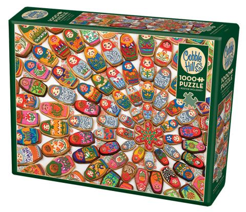 Matryoshka Cookies - 1000 pc puzzle - Cobble Hill Puzzle Co