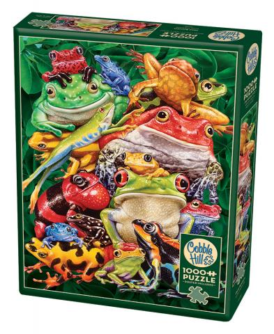 Frog Business- 1000 pc puzzle - Cobble Hill Puzzle Co