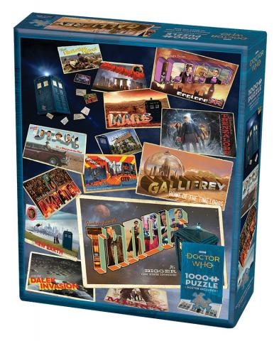 Doctor Who: Postcards 1000 pc puzzle - Cobble Hill Puzzle Co