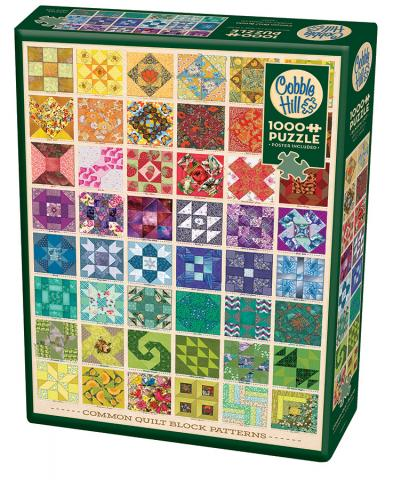 Common Quilt Blocks Package 1000 piece puzzle