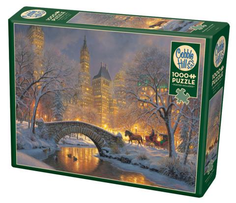 Winter in the Park 1000 piece snow and horse puzzle by Cobble Hill