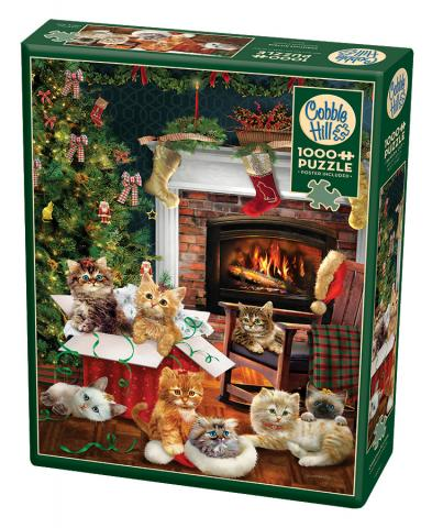 Christmas Kittens 1000 pc puzzle - Cobble Hill Puzzle Co