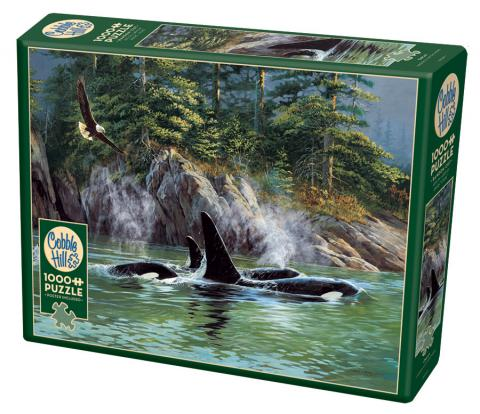 Orcas 1000 pc puzzle - Cobble Hill Puzzle Co