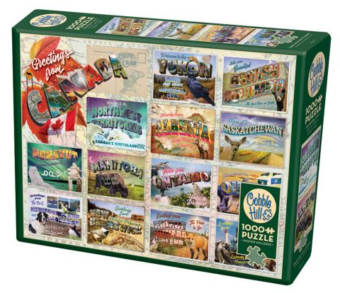 Greetings From Canada 1000 pc puzzle - Cobble Hill Puzzle Co
