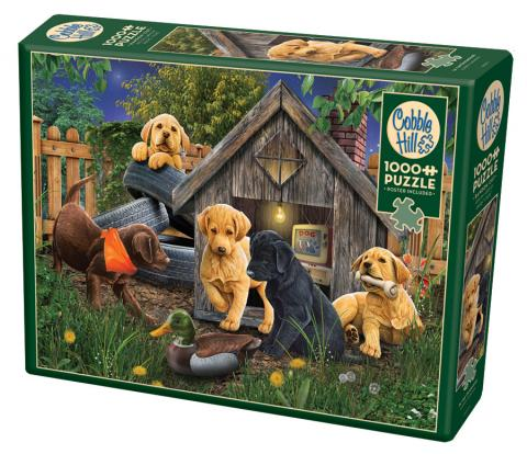 In the Doghouse 1000 piece puzzle by Cobble Hill