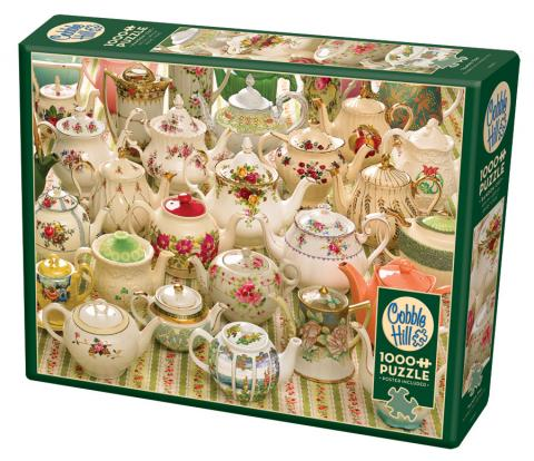 Teapots Too 1000 piece puzzle by Cobble Hill