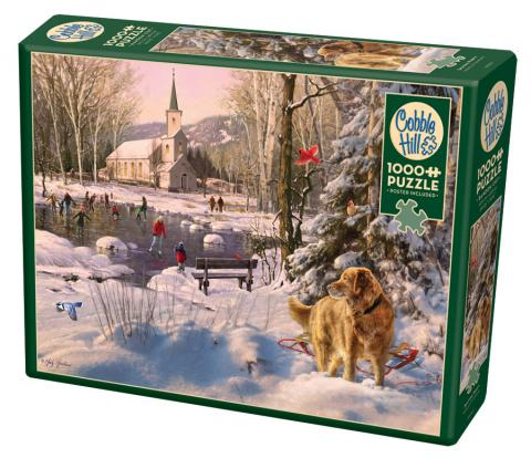 Skating Party 1000 piece puzzle by Cobble Hill