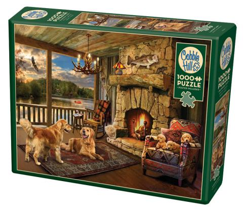 Lakeside Cabin 1000 piece puzzle by Cobble Hill