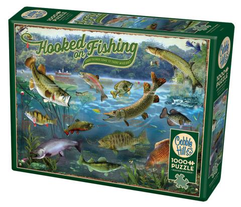 Hooked On Fishing Cobble Hill jigsaw puzzle 1000pc