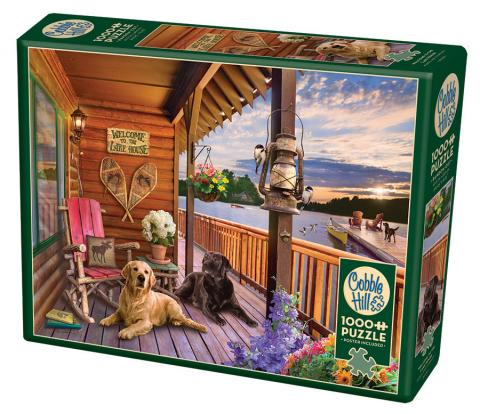 Welcome to the Lake House Cobble Hill jigsaw puzzle 1000pc