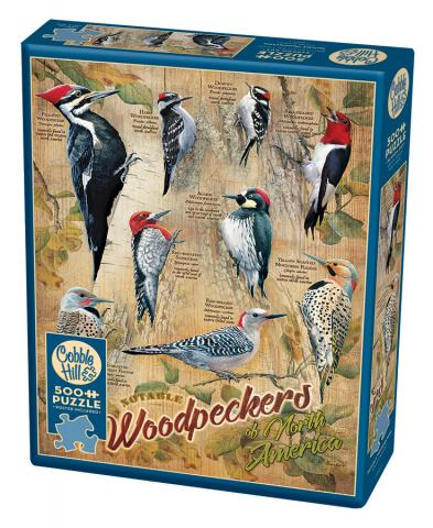 Notable Woodpeckers 500 piece jigsaw puzzle by Cobble Hill