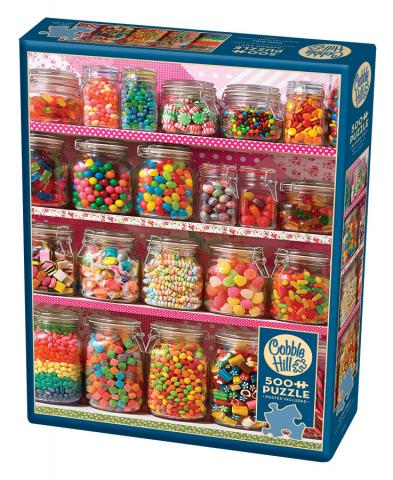 Candy Shelf |500 pieces| Cobble Hill camping puzzle